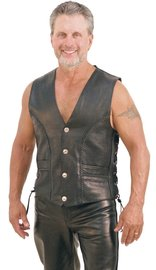 Jamin Leather Jamin' Premium Naked Leather Vest #VM319LB