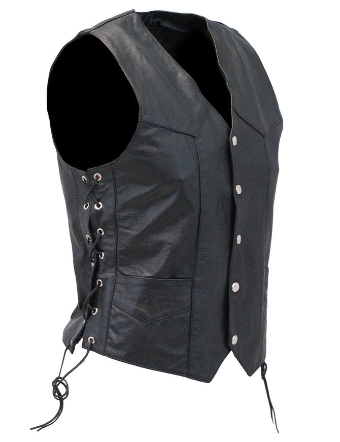 Side Lace Leather Vest - Special #VM401LSP