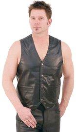 Jamin Leather Lambskin Leather Vest #VM418K