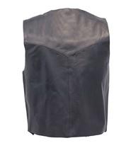 Jamin Leather Premium Black Dress Lambskin Leather Vest for Men #VM507K