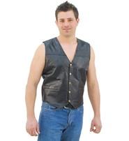 Patch Leather Vest #VM551P