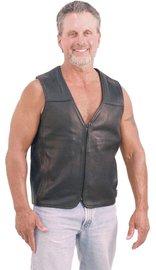Motorcycle Menace - Naked Leather Vest for Men #VM6029NZ (M-4X)
