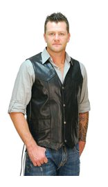 Big & Tall Leather Vest w/Side Lacing #VM605LT