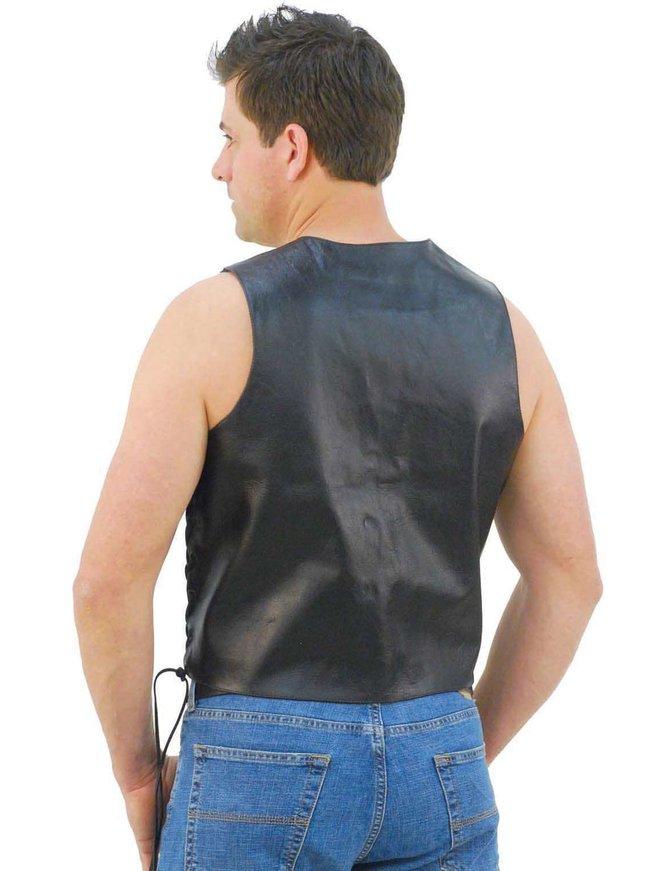 TALL Side Lace Leather Biker Vest w/CCW Pocket #VM606LTSP