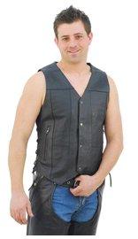 Economy 10 Pocket Leather Vest - Special #VM630SP (XL-6X)