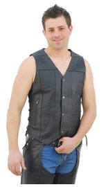 Economy 10 Pocket Leather Vest - Special #VM630SP