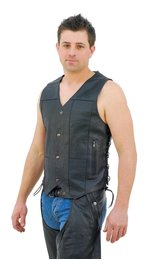 Economy 10 Pocket Leather Vest - Special #VM630SP (XL-6X)
