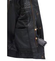 Unik Premium Buffalo Leather Snap & Zip CCW Vest #VM6655GK