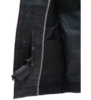 Unik Collarless Premium Buffalo Leather Snap & Zip CCW Vest #VM7410GK