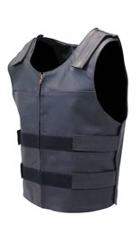 Black Police Safety Vest w/Front Zipper #VM945ZK (XS-5X)