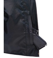 Black Police Safety Vest w/Front Zipper #VM945ZK