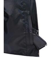 Black Police Safety Vest w/Front Zipper #VM945ZK