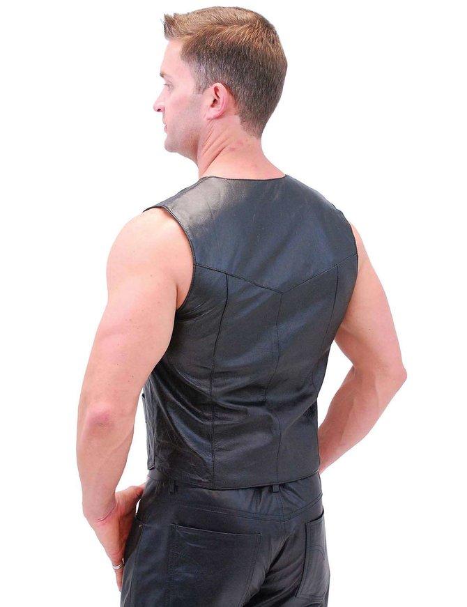 Classic Biker Leather Vest - Lightweight #VM950PK