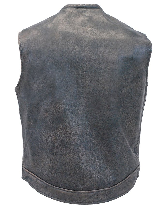 Jamin Leather Vintage Brown Leather Club Vest w/Dual CCW Pockets #VMA1018GN