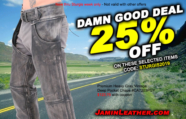 Damn Good Sturgis Deals #2! Plus, FREE Shipping!