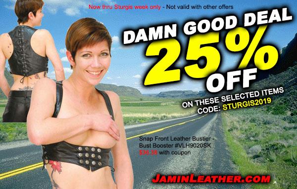 Damn Good Sturgis Deals! Plus, FREE Shipping!