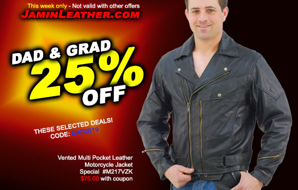 Dads & Grads! 25% Off + Free Shipping!