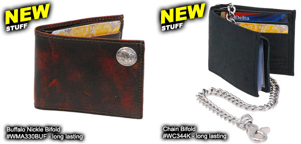New Leather Chain Wallets Now In Stock!