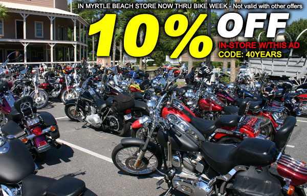 10% Off Now - Myrtle Beach Bike Week is Coming!
