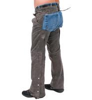Jamin Leather Vintage Brown Leather Pocket Chaps #C720PN
