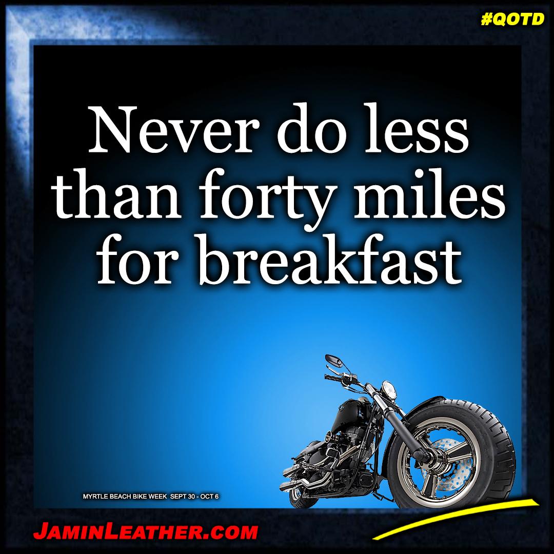 Never do less...