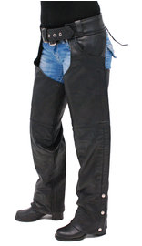 Unik Heavy Weight Naked Cowhide Leather Pocket Chaps #C7204NPK