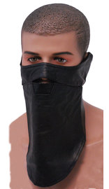 Long Leather Face Scarf #A163SCARF