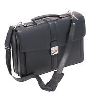 Medium Black Leather Briefcase Organizer #BC1440BSK