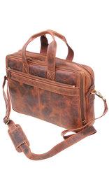 4'' Deep Vintage Oil Tanned Brown Leather Briefcase #BC163131N