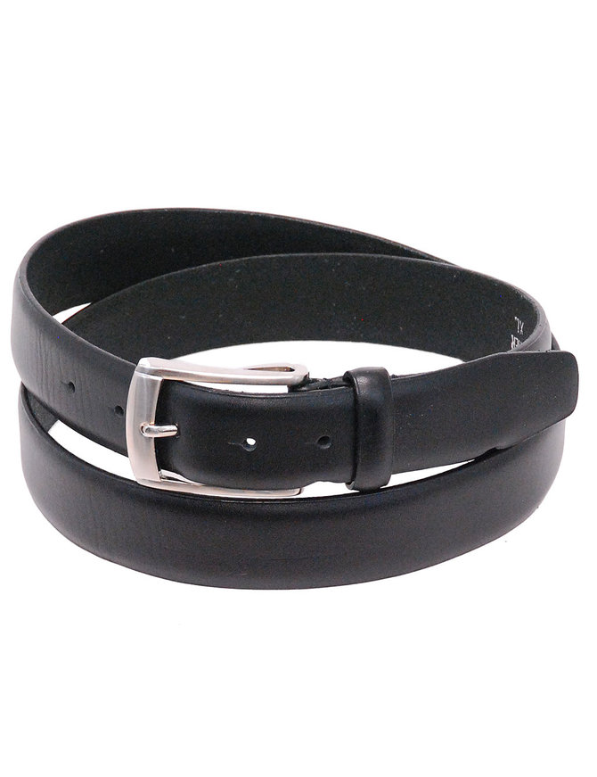 "Jamin Leather 1.25"" Wide Black Leather Dress Belt #BT044K"