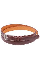 "Jamin Leather 3/4"" Narrow Brown Leather Belt #BT250N"