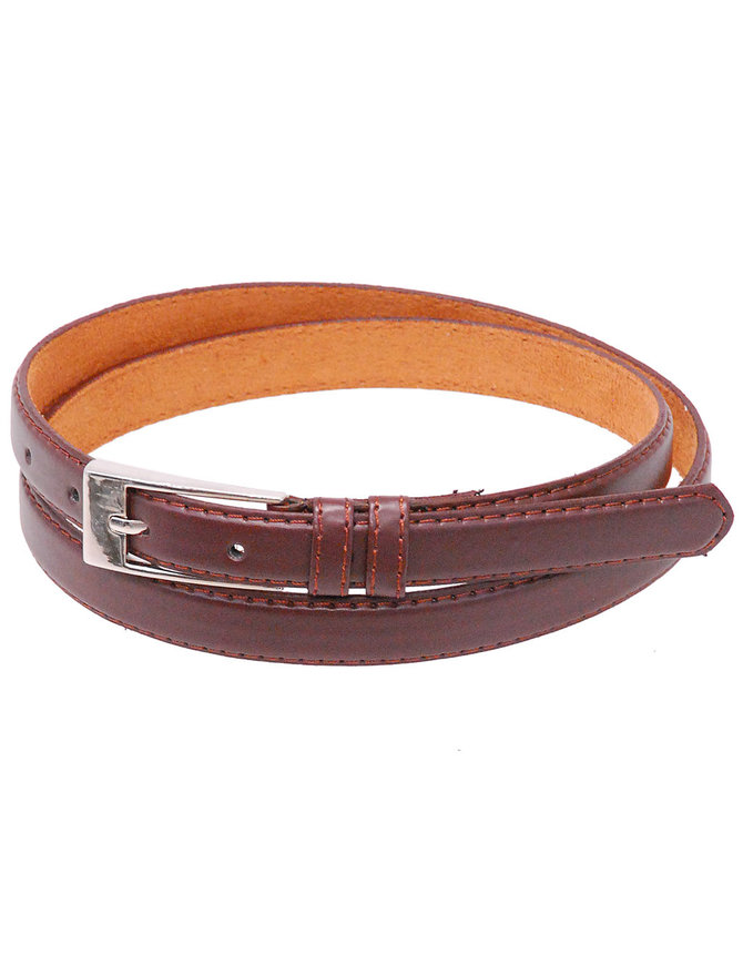 "Jamin Leather 3/4"" Narrow Brown Leather Belt #BT250N"