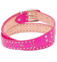 Jamin Leather Pink Studded Leather Belt #BT2037RPIN