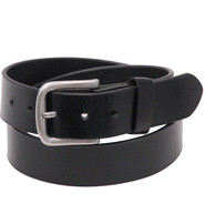 Heavy Veg-Tan Black Leather Belt #BT97170K