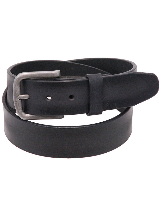 Two-Tone Gray/Black Veg-Tan Leather Belt #BT97180GYK