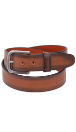 Two-tone Tan/Brown Veg-Tan Leather Belt #BT97181N