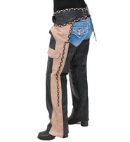 Unik Two-Tone Western Chaps with Braid #C7302TN