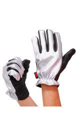 First MFG Women's Chrome Motorcycle Gloves #GL3014S