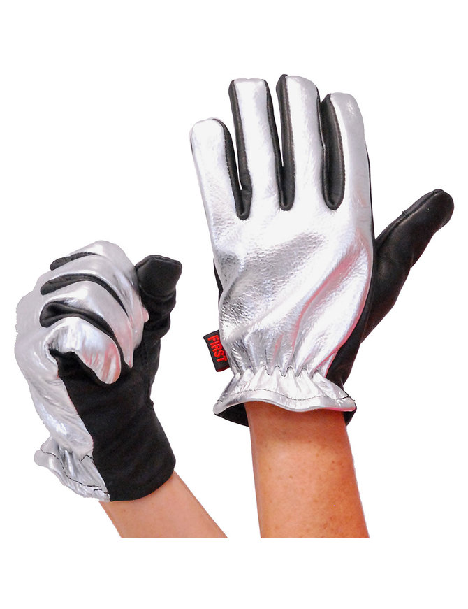 First MFG Women's Chrome Motorcycle Gloves #GL3014S