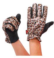 First MFG Women's Leopard Leather Motorcycle Gloves #GL3015LEOP