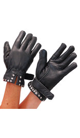 Unik Women's Studded Cuff Leather Gloves #GL8275S