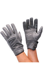 Daniel Smart Vintage Gray Leather Motorcycle Gloves #GM42GY