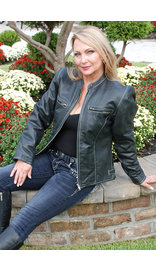 Jamin Leather Women's Premium Naked Leather Jacket w/Light Stitching #L902ZWK (S-XL)