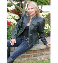 Jamin Leather Women's Premium Naked Leather Jacket w/Light Stitching #L902ZWK