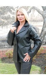 Womens Lambskin Leather Blazer - Classic #L2490BTK