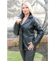 Womens Lambskin Leather Blazer - Classic #L2490BTK