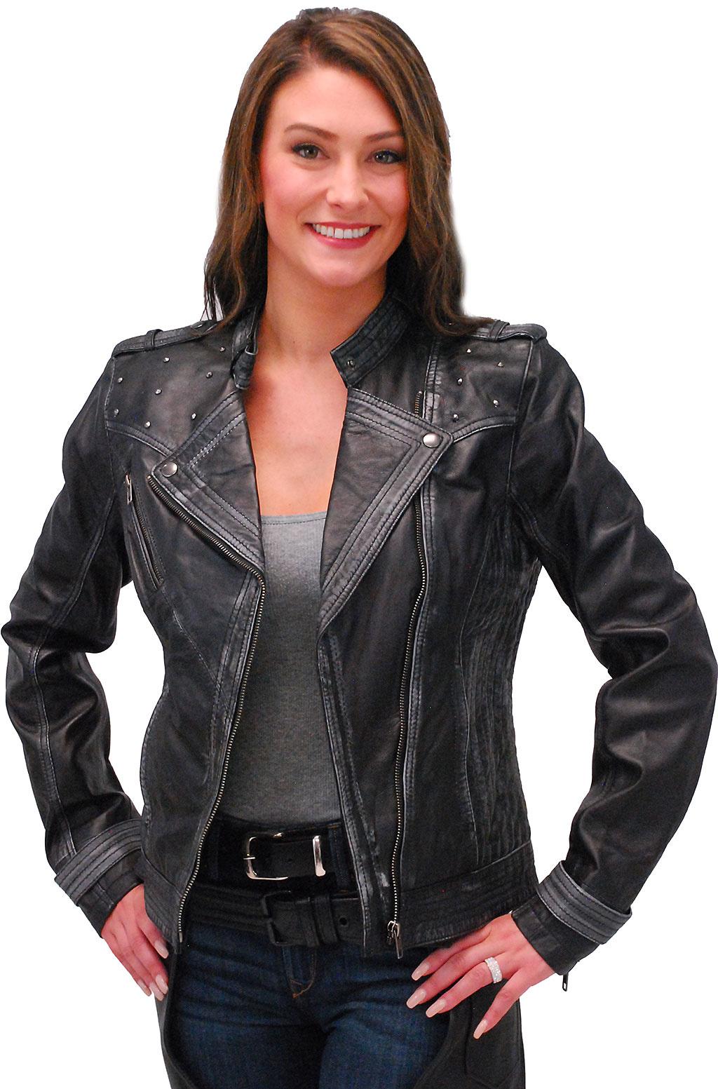 Black, XX-Large Milwaukee Womens Full Length Motorcycle Jacket