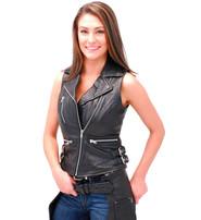 First MFG Women's Sleeveless Motorcycle Jacket/Vest #LS5100K