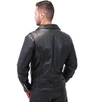 First MFG Men's Top Quality Naked Leather CCW Motorcycle Jacket #M208GZK