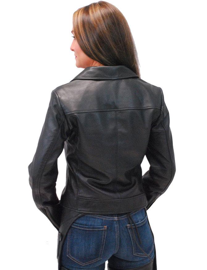 First MFG Women's Super Soft Lambskin Motorcycle Jacket #L15070K